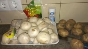 Продукты для грибного супа-пюре