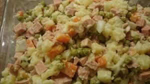 Веганский зимний салат